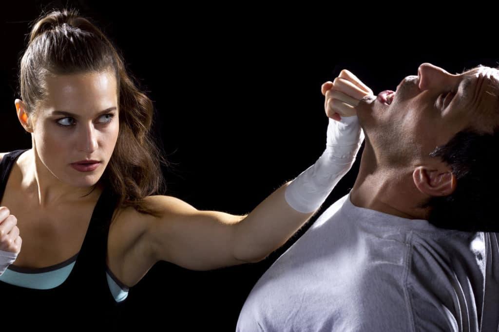 Woman-Attacking-Adam's-Apple-For-Self-Defense