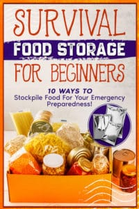 How Survival Food Storage Book for Beginner Will Benefit You