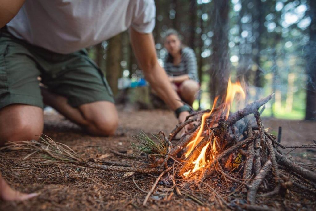 Making-fire-is-a-basic-wilderness-survival-skills